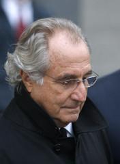 Accused swindler Bernard Madoff exits the Manhattan federal court house in New York