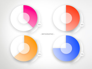 Circle business infographic chart illustration
