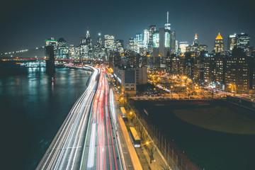Manhattan Skyline by Night - New York