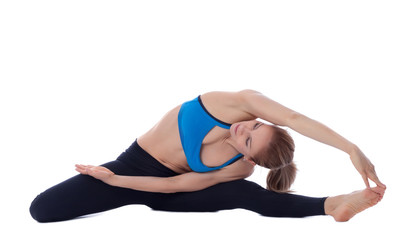 Stretching of ischio, obliques, adductors and quadriceps