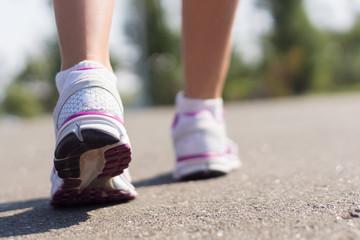 Legs of a runaway woman.