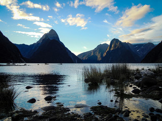 Milford Sound, New Zealand - Stock Photo