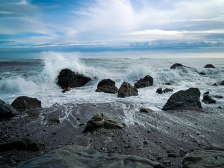 Galway Beach, New Zealand - Stock Photo
