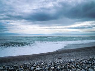 Galway Beach, New Zealand - Stock Photo