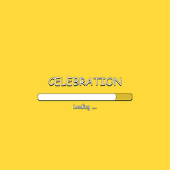 Loading Celebration in comic style, vector illustration