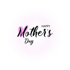 Lettering Happy Mothers Day. Handmade calligraphy