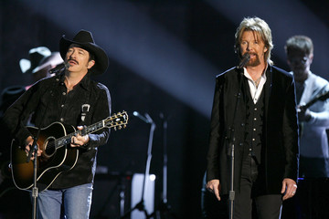 """Brooks & Dunn perform """"God Must Be Busy"""" at the 41st annual Country Music Awards in Nashville"""