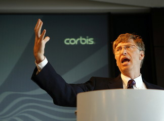 Microsoft Corp. Chairman and Corbis owner Bill Gates speaks during the Corbis annual meeting in New ..