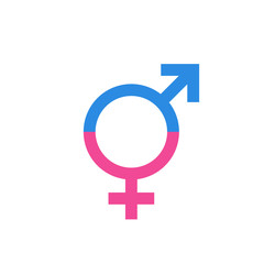 Gender equal sign vector icon. Men and woomen equal concept icon.