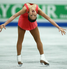 KWAN FROM THE U.S. PERFORMS IN THE WOMEN'S FREE SKATING COMPETITION AT THE WORLD FIGURE SKATING ...