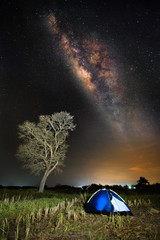 The milky way landscape in Thailand