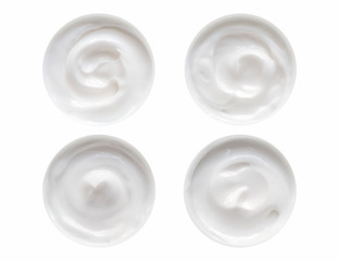 Creamy lotion isolated on white background on top. use clipping path