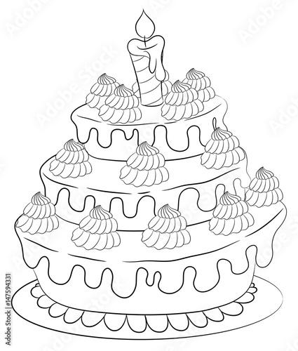 """süße torte vektor illustration"" stock image and royalty"