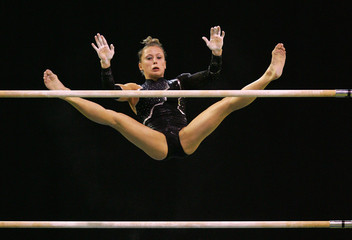 Zamolodchikova of Russia competes in uneven bars during womens all around final at World Gymnastics Championships in Melbourne