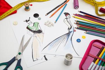 Fashion designer background