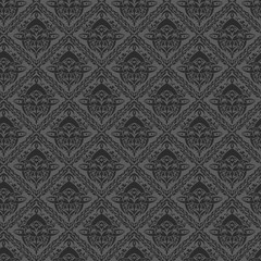 Fototapeta Seamless black wallpaper with border obraz