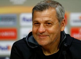 Olympique Lyon news conference - UEFA Europa League