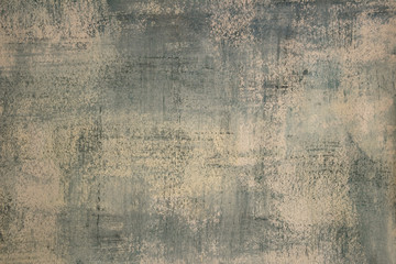 Close up of a blank, light blue, abstract painting on paper. Photograph of hand painted, distressed texture.
