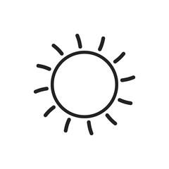 Sun icon vector illustration. Sun with ray symbol.