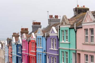 Maisons colorés dans Blaker Street à Brighton