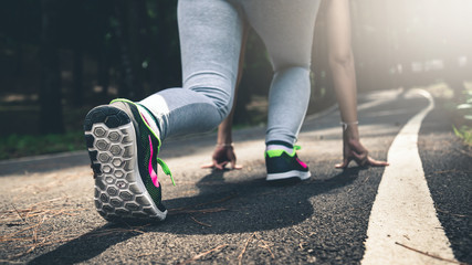 Women do if they prepare to run to exercise.