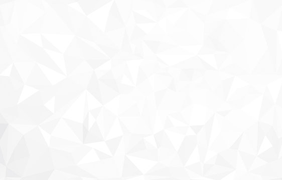 Vector abstract  white triangles background.