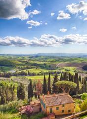 Foto op Canvas Toscane Golf Course, Tuscany, Castelfalfi