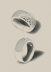 A sketch of a jewelry.