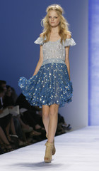 A model presents a creation from the Rebecca Taylor Spring 2009 collection during Fashion Week in New YorkTrade Center in New York