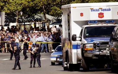 BOSTON POLICE BOMB SQUAD CLEARS BOSTON HOTEL.