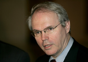 U.S. Assistant Secretary of State Christopher Hill speaks to the media in Beijing