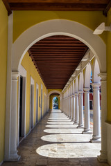 Arches in Campeche, Mexico