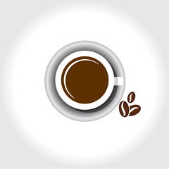abstract icon hot coffee