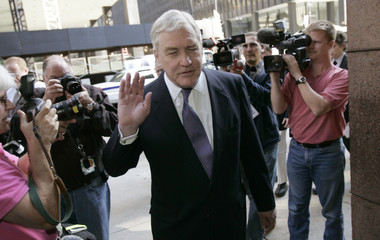 Conrad Black leaves federal court in Chicago