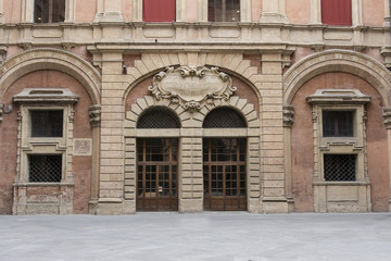 The courtyard of town hall in Bologna