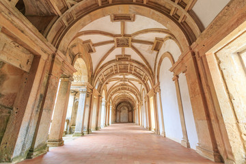 Pathway inside Knights of the Templar (Convents of Christ) in Tomar.