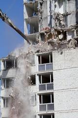 démolition d'un immeuble d'habitation vétuste