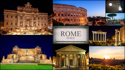 Rome, Italy - photo collage