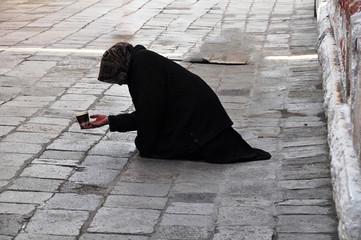 Bettlerin in Venedig