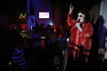 """Chuck Knipp performs as """"Betty Butterfield"""" at the Fusion night club in Louisville"""