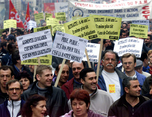 FRENCH TRADE UNIONS DEMONSTRATE IN MARSEILLE AGAINST RETIRMENT AGE REFORM.