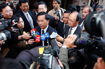 TAIWAN PRESIDENT SPEAKS WITH MEDIA IN NEW YORK.