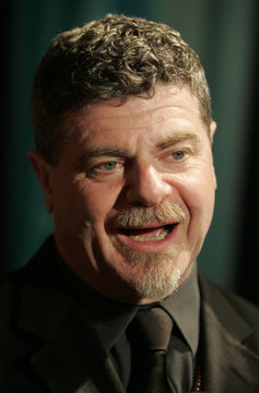 Composer Gustavo Santaolalla from Argentina speaks during an interview at BMI's 15th Annual Latin Awards in Beverly Hills