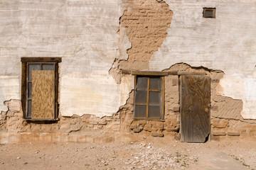 Crumbling Wall Door Stucco Adobe Plaster