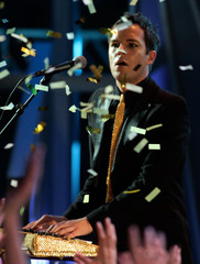 Brandon Flowers of The Killers performs at the 2005 MuchMusic Video Awards in Toronto.