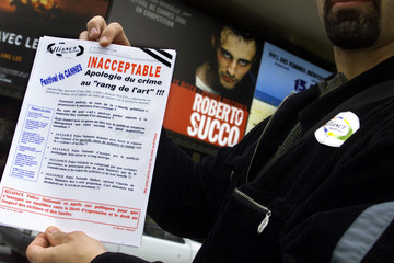 FRENCH POLICE PROTEST AGAINST FILM BASED ON TRUE STORY OF KILLER ROBERTO SUCCO.