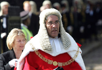New Lord Chief Justice Lord Phillips of Worth Matravers parades from Westminster Abbey to Houses of Parliament in central London
