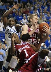 University of Kentucky's Ramel Bradley fights for the rebound in Lexington