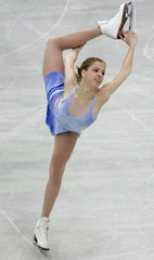 Kostner of Italy performs her short programme during the Figure skating Grand Prix in Moscow.