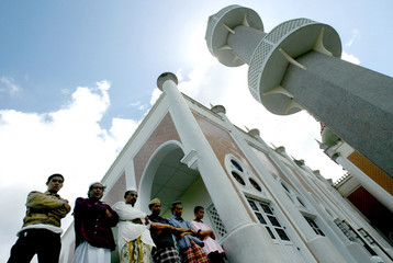 THAI MUSLIMS PRAY IN PATTANI PROVINCE, SOUTH THAILAND.
